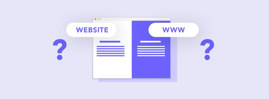 Is there a difference between a website and a domain?